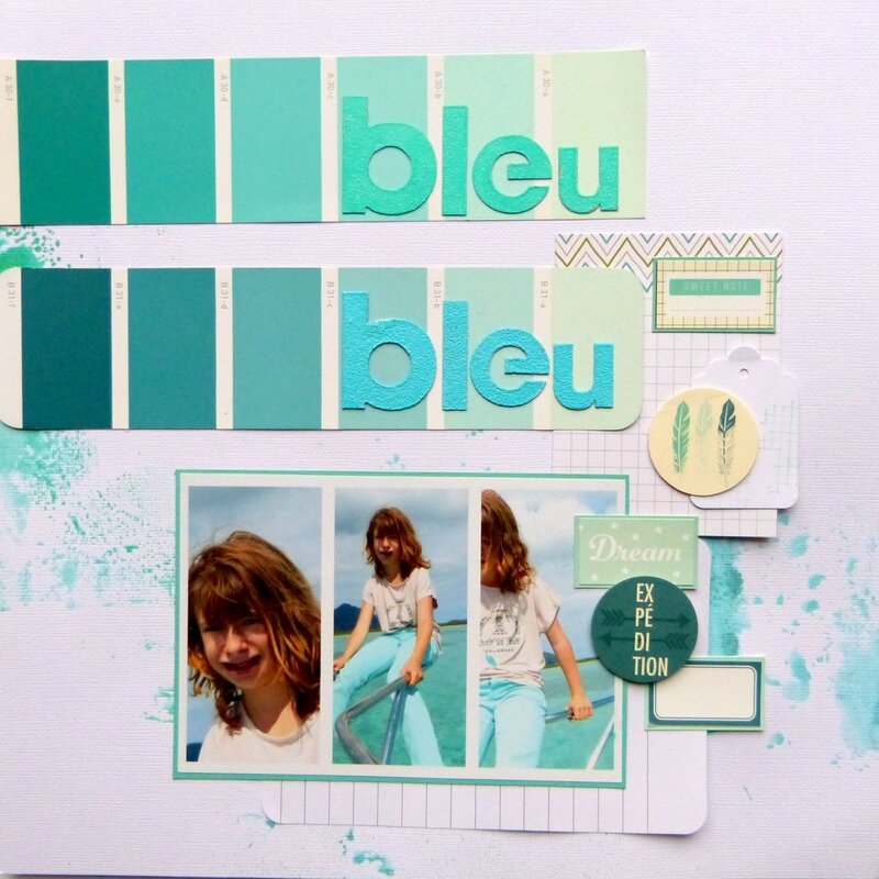 page bleue
