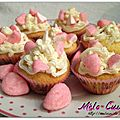 Mini cupcakes vanille-Tagada Pink