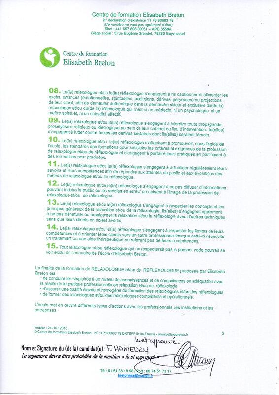 Code déontologie page 2