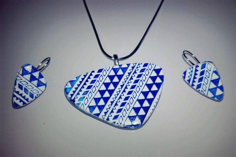 silkscreen en bleu