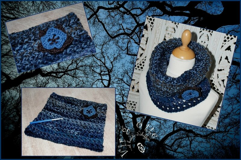 détails snood blue winter