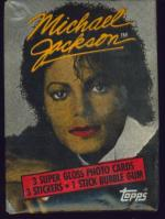 1984 TOPPS MICHAEL JACKSON WAX PACK MICHAEL WITH RED LIPS