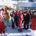 La première journée s'est bien passée, on a préparé les affaires ski et on est allé skier. Julie