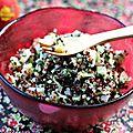 Taboulé d'hiver express quinoa - fenouil - pommes ariane , ig bas {+concours très pomme !}