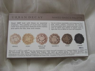 Palette naked basics d'Urban Decay princesse affreuse(5)