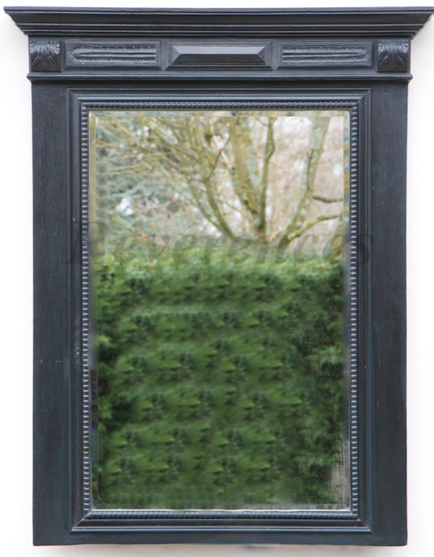 Grand miroir ancien patin gris ardoise r v rences for Grand miroir cadre noir