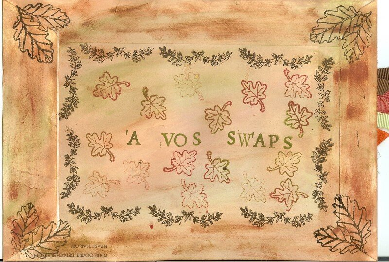 Mail art automnal - Enveloppe 2/2