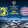 Rostov vs bayern munich en direct, compositions live !