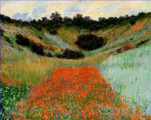 3-Coquelicots-Champ-At-Giverny-II-Claude-Monet