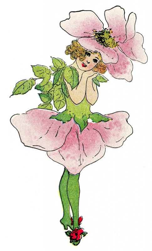 Vintage-Fairy-Image-Flower-Girl-Rose-GraphicsFairy-621x1024