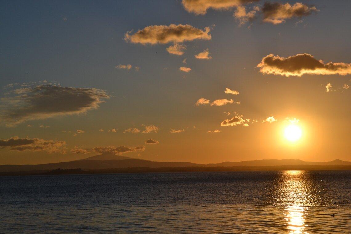 lac coucher de soleil - photo #7