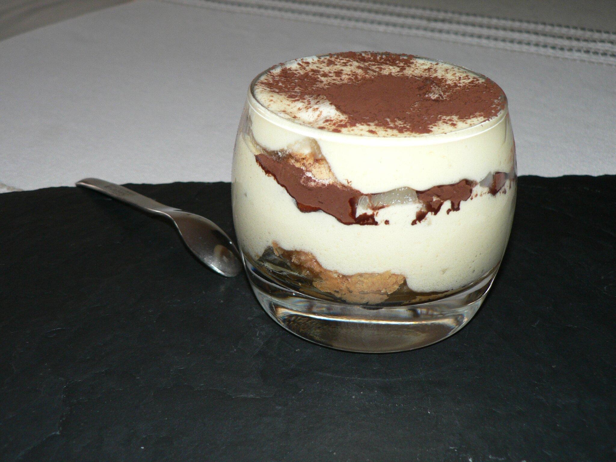 recette tiramisu au chocolat poire