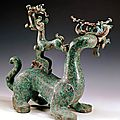 Mythical animal, chu state, eastern zhou, spring and autumn period, 770-476 bce