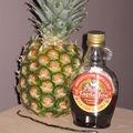 Ananas confit au sirop d'érable et mascarpone