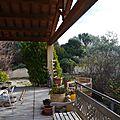 Une partie de la terrasse