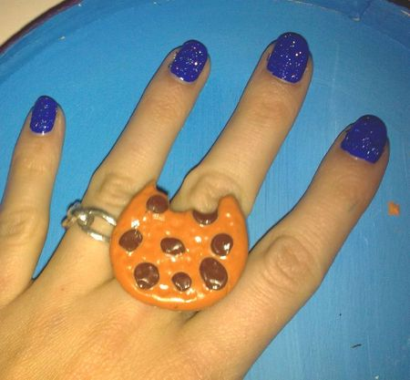 bague cookie fimo
