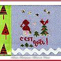 Échange ATC +Ruban Noël Chez Christine