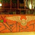 A l'entrée du Kunsthaus Tacheles, un ange dessiné au mur