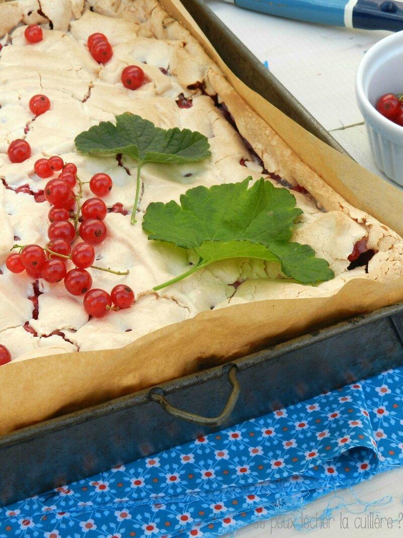 Gâteau meringué aux groseilles2