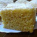 Gâteau de semoule à la crème fraiche