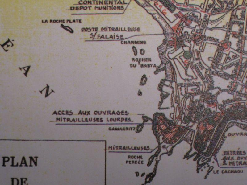 Plan de la Résistance à Biarritz en 1940