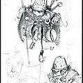 Gobelin couturier et gnome à grosse tête