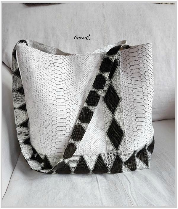 SAC SIMILI ANACONDA DRAGON BLANC