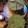 Miss tiny fonce vers 2010 le coeur lourd et les bras charges: pain surprise bicolore. bonne annee a tous et a toutes!!!