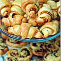 Mini croissants feuillets philadelphia-saumon fum