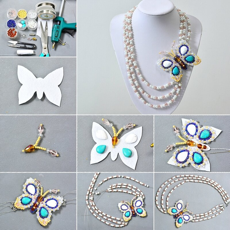 1080-Pandahall-DIY-Project---How-to-Make-a-3-Starnd-Beaded-Butterfly-Necklace