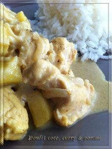 Poulet coco curry &amp; pomme