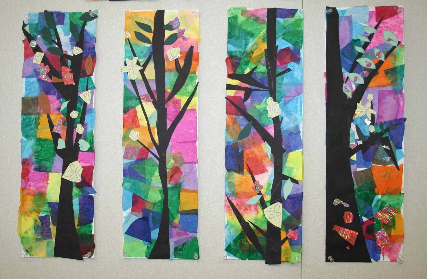 tissue paper collage ideas