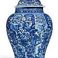 A blue and white Ladies jar and cover. Qing dynasty, Kangxi period - Sothebys