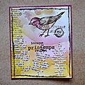 Oiseau printanier - challenge scrap rdv chez nous (ii)