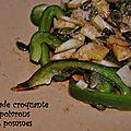 Salade croquante de poivron aux pommes