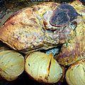 Rouelle de porc au cidre et oignons fondants