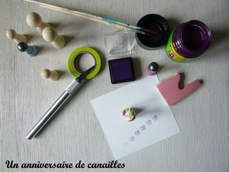 tampon home made coeur gomme a graver support en bois (10)
