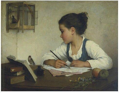 Enfant-écrivant