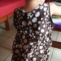robe froncée à pois 2