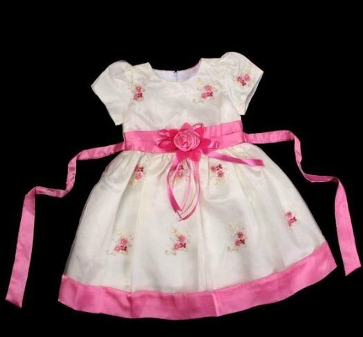 "Robe fillette"" Digitale"" rose 9/12 mois"
