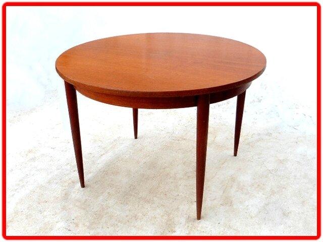 Table de salle manger vintage scandinave teck vendu for Salle a manger annee 1960