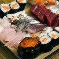 Sushis, sashimis et makis