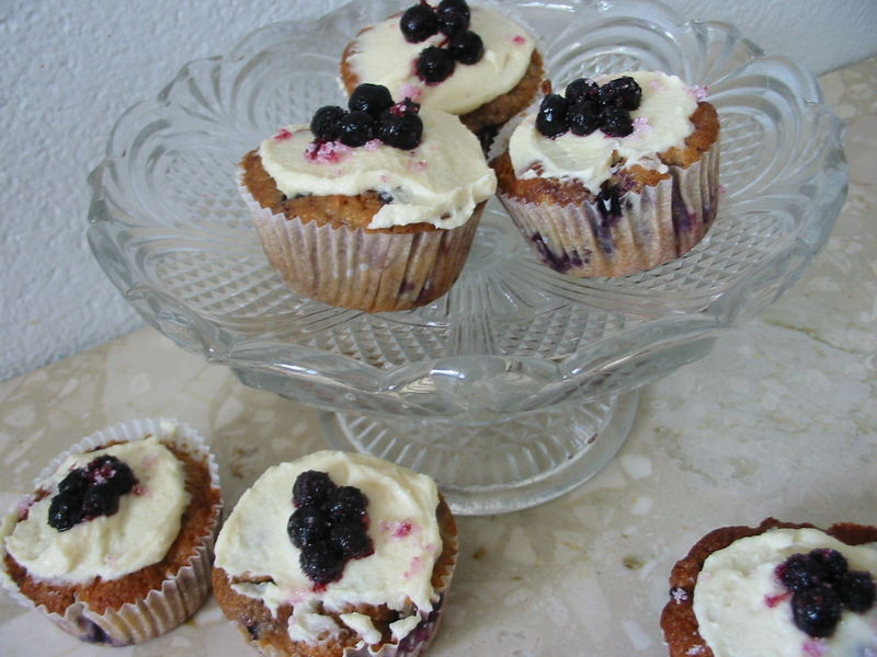 cupcakes à la pomme et à la myrtille