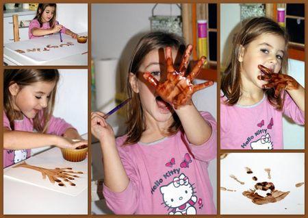 montage peinture au chocolat