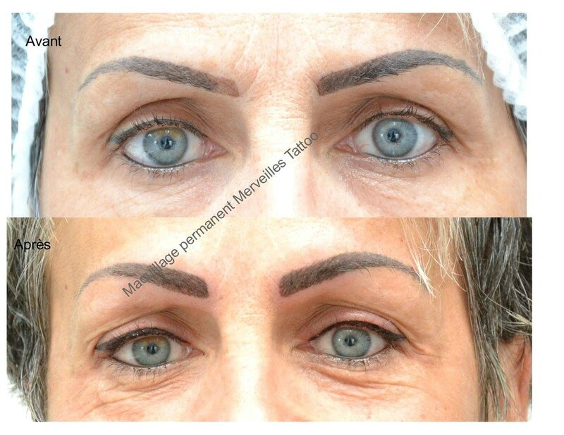 tatouage sourcils, tattoo eye liner, maquillage permanent salon de provence