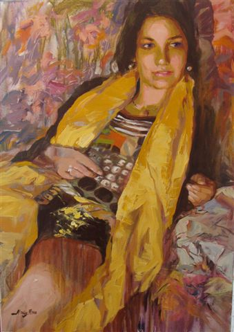 MOULY Nadiedja - Femme au foulard jaune
