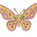 An exclusive coloured diamond brooch, by carvin french