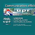 Demain samedi 16 décembre: réunion régionale upr !