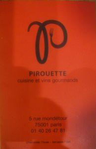 Pirouette Carte de visite J&W