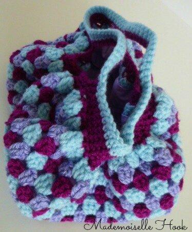 Mini sac boule violet 2